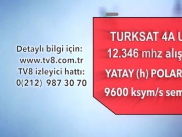 TV8 frekans değerleri 18 Eylül 2014 tarihinde değişecektir.