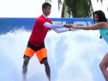 Almeda sörf yapmaya çalışırsa