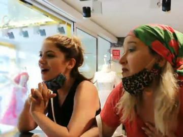 Birben ve Rabia'nın alışveriş esnasındaki yarışı olay oldu