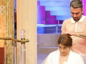 Kemal Doğulu eline makası aldı, Rabia'nın saçlarını kesti